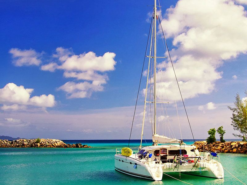 Cancun offers a great sea for sailing